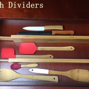 Bamboo expandable drawer divider from Bamsira