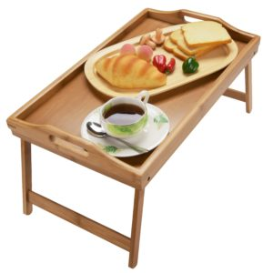 Bamsira Bamboo Foldable Breakfast Tray Table